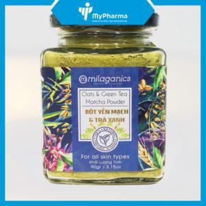 bột yến mạch trà xanh Milaganics