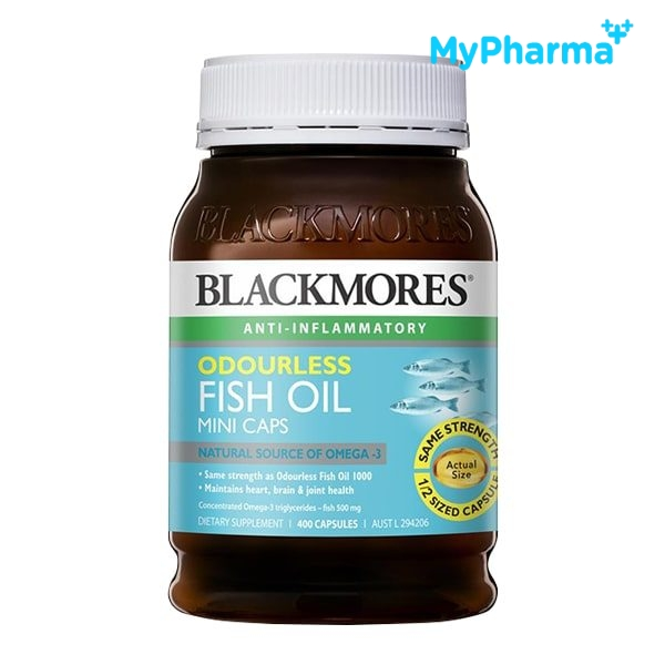 BLACKMORES ODOURLESS FISH OIL MINI CAPS