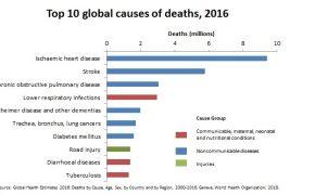 Top 10 nguyên nhân gây tử vong