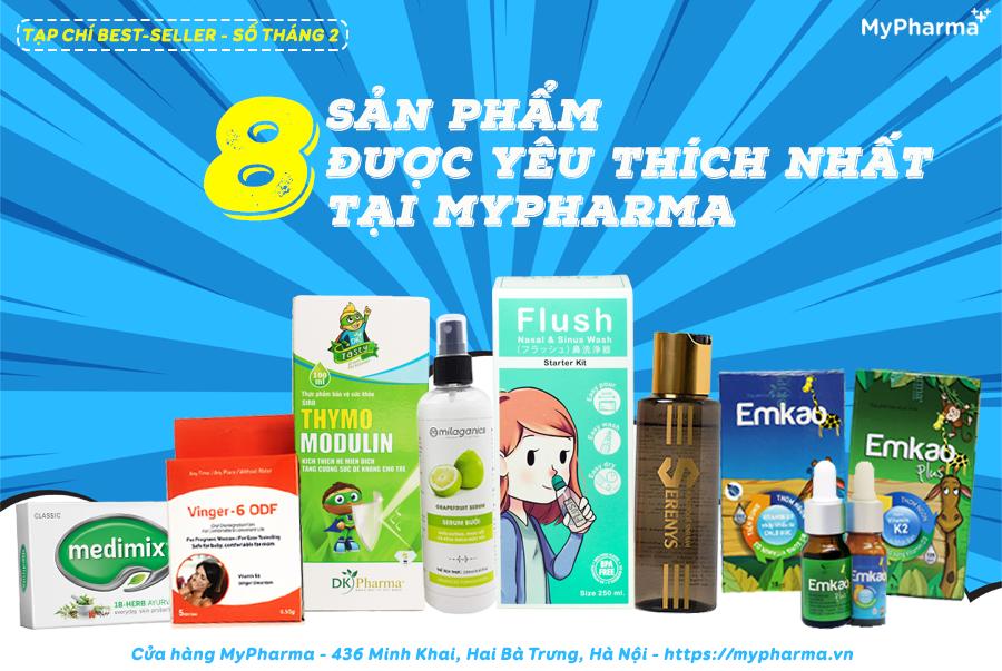 Top 8 sản phẩm được yêu thích nhất tại MyPharma