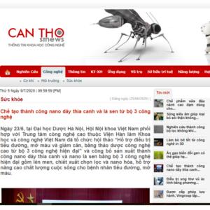 Báo Sở KHCN Cần Thơ: Chế tạo thành công Nano Dây thìa canh và Lá sen từ bộ 3 công nghệ