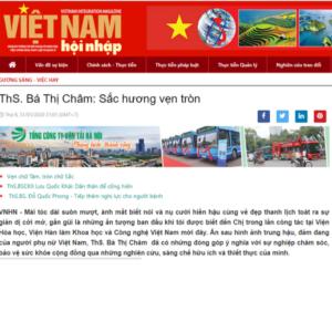 Báo Việt Nam hội nhập: ThS.Bá Thị Châm: Sắc hương vẹn tròn