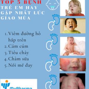 Top 5 bệnh thường gặp ở trẻ lúc giao mùa