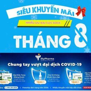CTKM THÁNG 8.2020 – CHUNG TAY VƯỢT ĐẠI DỊCH COVID-19