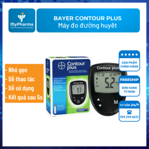 máy đo đường huyết Bayer Contour Plus