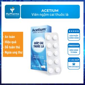 Viêm ngậm cai thuốc lá Acetium