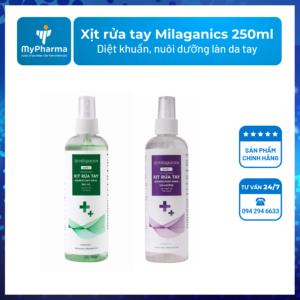Xịt rửa tay Milaganics 250ml